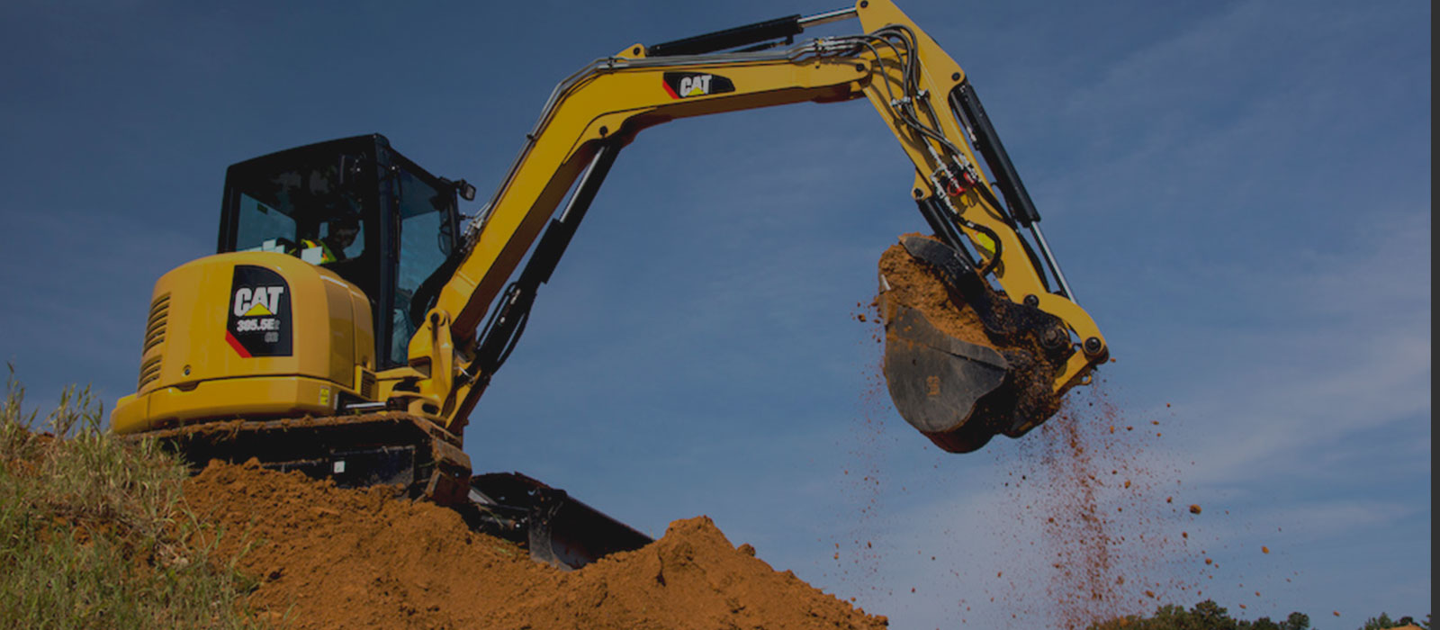 Backhoe Digging Dirt